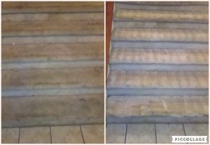 Newly cleaned stairs